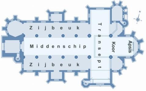 plattegrond kerk kruisvorm_300pix