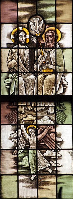 6. die opgestegen is ten hemel, zit aan de rechterhand van God, de almachtige Vader