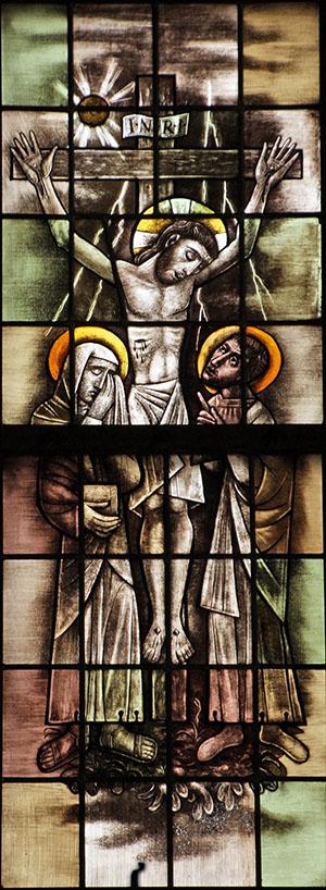 4. die geleden heeft onder Pontius Pilatus, is gekruisigd, gestorven en begraven