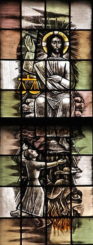 7. vandaar zal Hij komen oordelen de levenden en de doden (links)