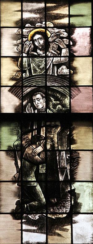 10. de vergiffenis van de zonden (rechts)