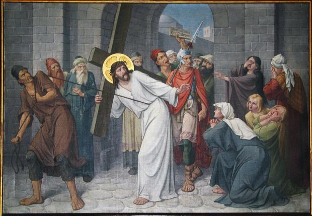 Statie 8: Jezus spreekt tot de weenende vrouwen.