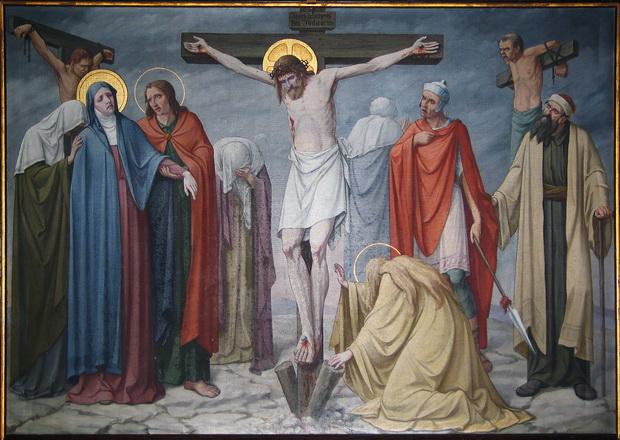 Statie 12: Jezus sterft aan het kruis.