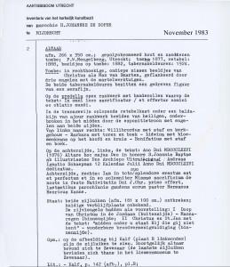 1983-11 Inventaris object Altaar inv167V2