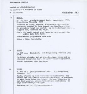 1983-11 Inventaris object Beelden JohdD-HHart-Maria- inv172