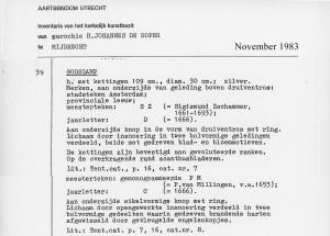 1983-11 Inventaris object Godslamp 39 inv178