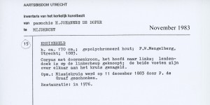 1983-11 Inventaris object Missiekruis inv174
