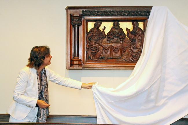 Tijdens de Monumentendag op 13 september 2014 werd het kunstwerk officieel onthuld door wethouder van (o.a) kunst en cultuur, mevrouw Erika Spil