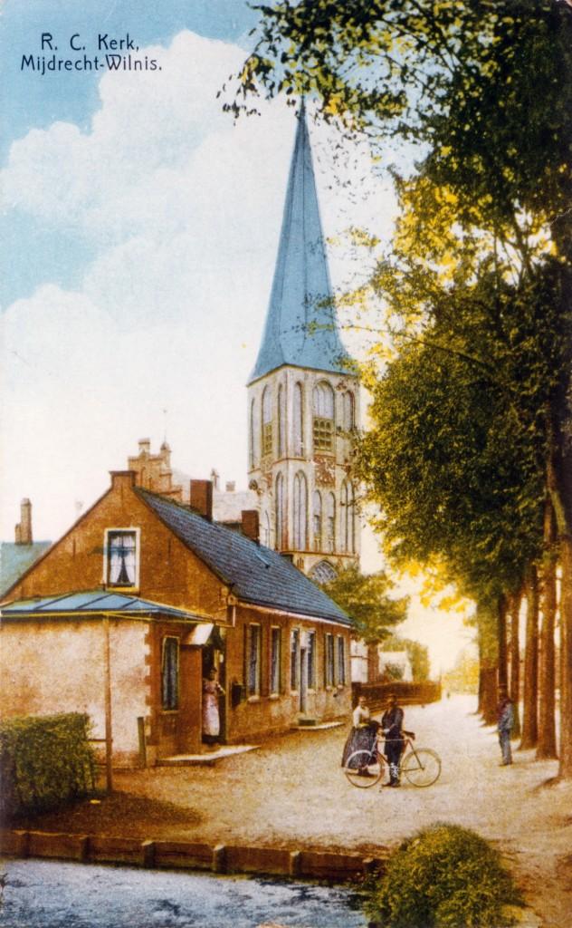 Archief MoJdD143 archief AJ Nederhof kerk vanuit Driehuis-e_resize