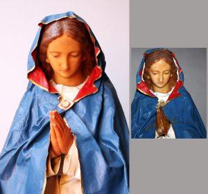 Kerstgroep 3415 maria - voor en na restauratie_1700pix