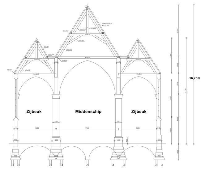 F:kerkbestuurtekeningenkerk-doorsnede.dwg Model (1)